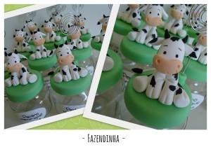 Fazenda vaca potinhos biscuit